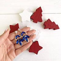 Серьги женские Mira синие, женские сережки