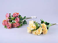 """Искусственные цветы 35 см. """"Розочка букет"""" ткань, в ассортименте"""