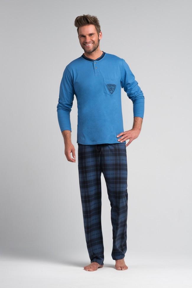 Мужская хлопковая пижама.ШВЕЙЦАРИЯ.Rossli SAM-PY-051