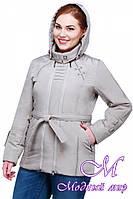 Женская весенняя куртка больших размеров с капюшоном (р. 50-62) арт. Аврора