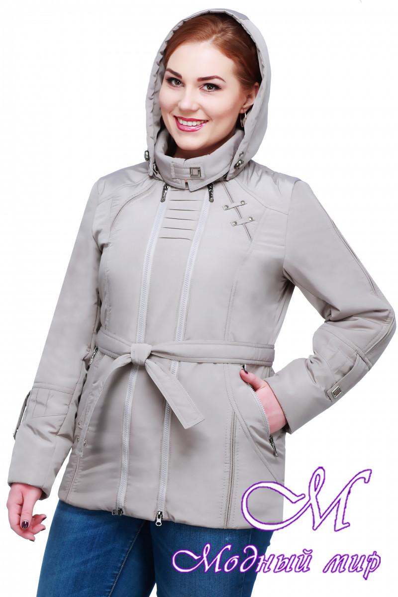 d20d75f40ac Женская весенняя куртка больших размеров с капюшоном (р. 50-62) арт ...