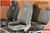 Чехлы в салон  Dacia Logan MCV 7 мест с 2006 г деленная , EMC Elegant