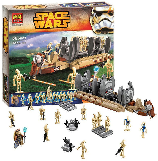Конструктор  Star Wars 10374 Десантный самолет Боевых Дроидов, 565 деталей, 15 мини-фигурок
