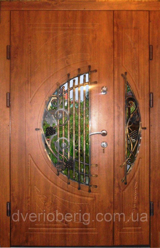 Входная дверь двух створчатая модель П5-381 vinorit-02 КОВКА
