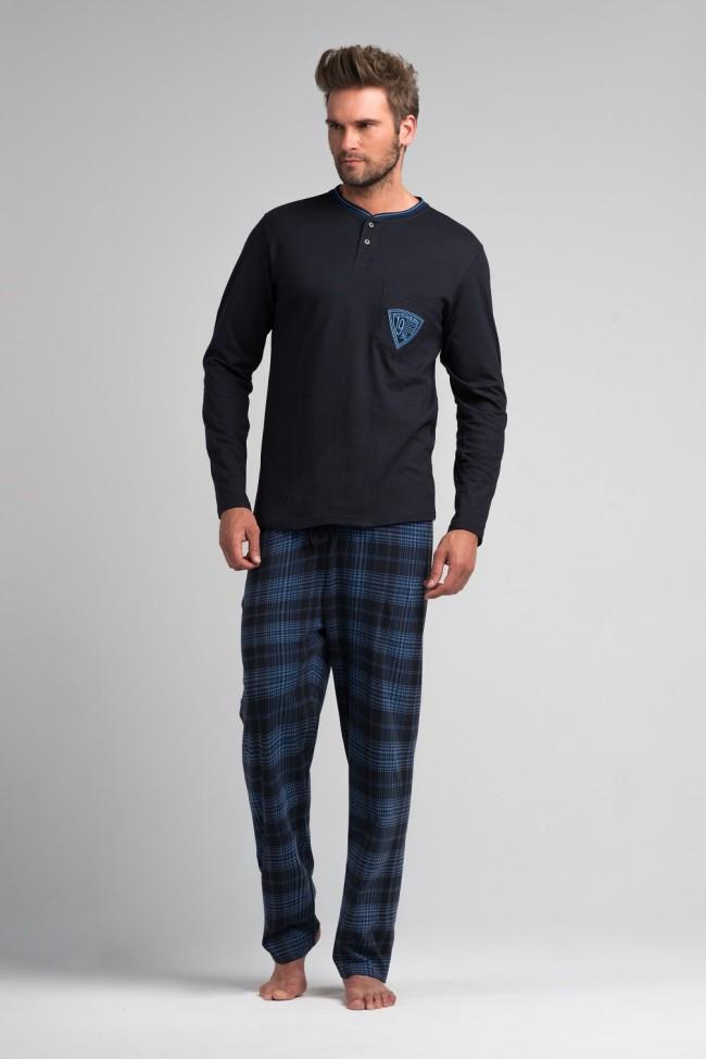 Мужская хлопковая пижама.ШВЕЙЦАРИЯ.SAM-PY-052