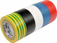 YATO Ізолента різнокольорова , 19 мм х 20 м, Набір 10шт.