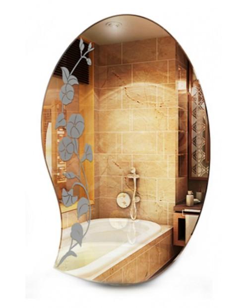 Зеркало в ванную с декором
