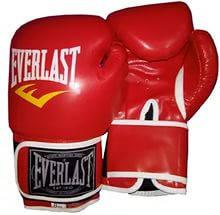 Перчатки бокс PU на липучке ELAST BO-3987-R(10) (р.10oz, красный)