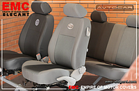 Чехлы в салон  Opel Vivaro (1+1) с 2001- , EMC Elegant