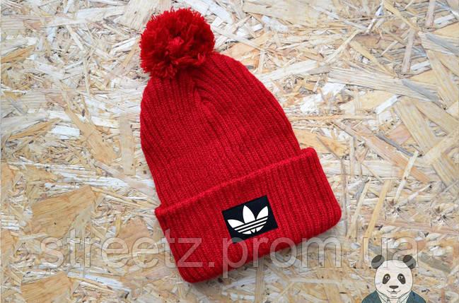 Зимова шапка з бубоном Adidas / Адідас, фото 2