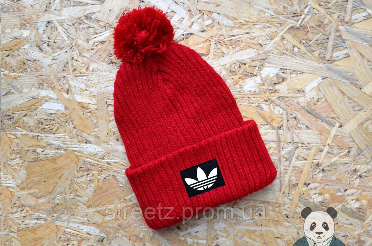 Зимова шапка з бубоном Adidas / Адідас