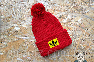 Зимова шапка з бубоном Adidas / Адідас, фото 3