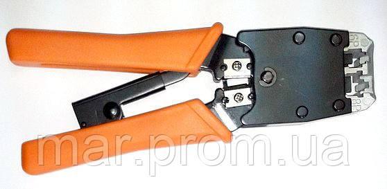 HT-500  Инструмент обжимной  RJ-45 (8P8C) & RJ-45, RJ-12, RJ-11