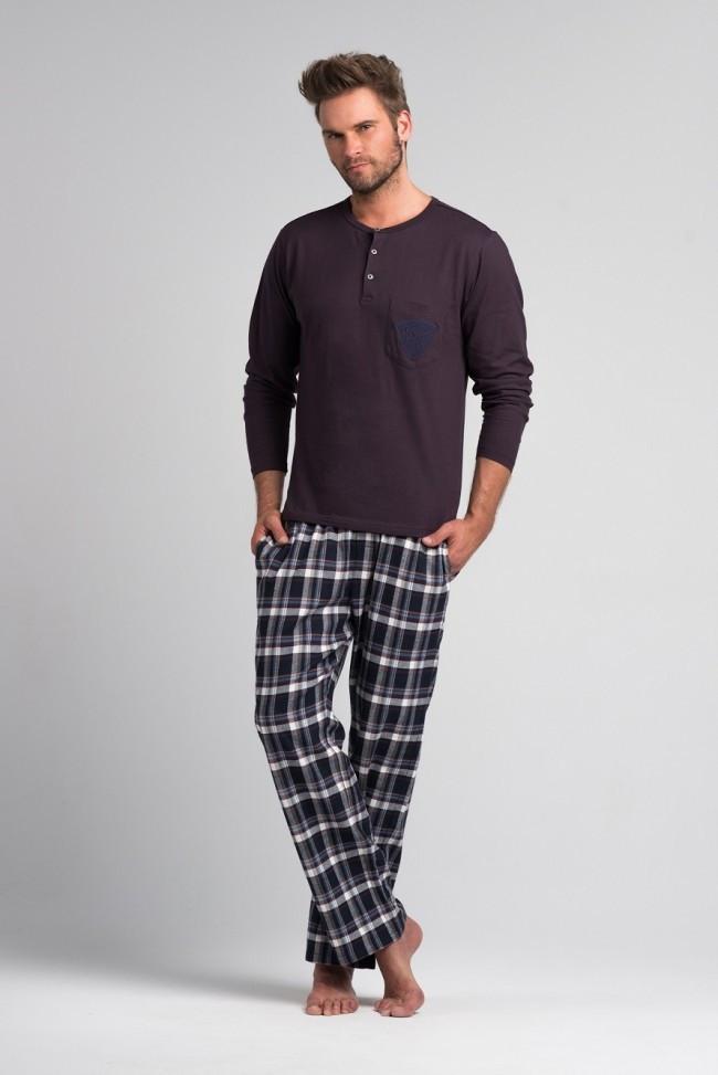 Мужская хлопковая пижама.ШВЕЙЦАРИЯ.Rossli SAM-PY-044
