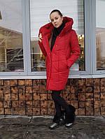 Пуховик женский WinterSil красный