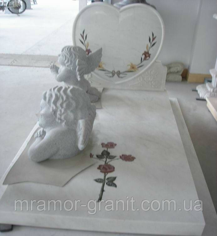 Надгробие в виде сердца М - 11