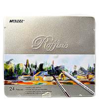 Цветные карандаши Marco 24 цвета Raffine с кистью