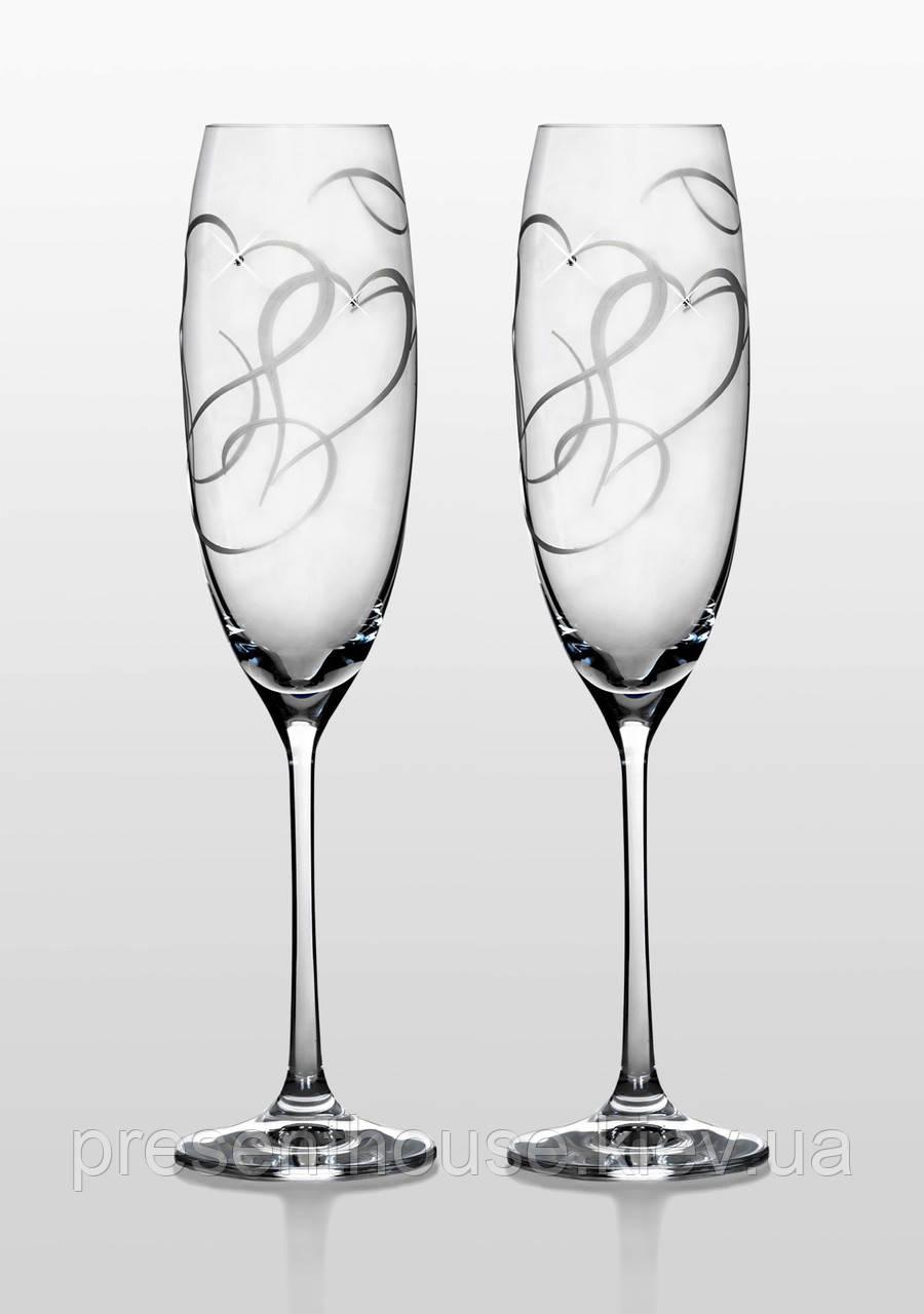 """Бокалы для шампанского Grandioso Amour Swarovski - Интернет-магазин """"Present House"""" в Киеве"""
