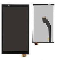 Дисплей (LCD) HTC 816G Desire Dual Sim/ 816H с сенсором чёрный, чёрный шлейф