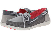 Туфли-мокасины crocs walu boat shoe light grey US 4 33-34