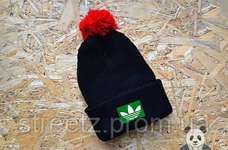 Зимняя шапка с бубоном Adidas / Адидас, фото 3