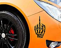 3д тюнинг / Наклейка 3д Скелет палец, фото 1