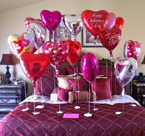 фольгированные шарики сердца на 14 февраля