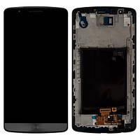 Дисплей (экран) для LG G3 D855 + с сенсором (тачскрином) и рамкой Gray