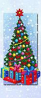"""Схема для вышивки бисером """"Новогодняя елка"""", 11х26 см"""