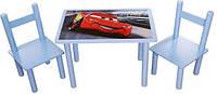 Набір дитячий з картинкою (столик + 2 стільці)