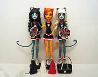 Набор кукол Монстер Хай Торалей, Мяулодия и Пурсефона FEARLEADING Werecats TORALEI Meowlody and Purrsephone
