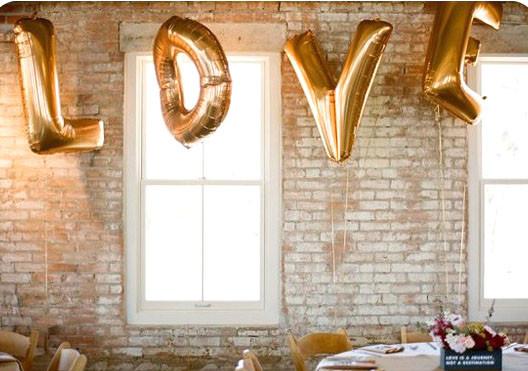 фольгированные буквы Love