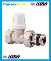 Кран радиаторный нижний прямой 1/2 ICMA 955