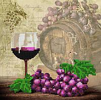 "Схема для вышивки бисером ""Вино"", 17х17 см"