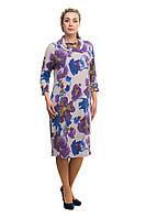 Женское теплое повседневное платье большого размера 1705024V