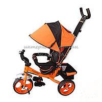Детский велосипед три колеса М 3113-4- оранжевый|колеса Eva