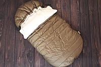 "Зимний конверт для малыша ""Snowball brown"""