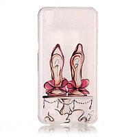 Чехол накладка силиконовый TPU Printing для LG X Power K220 A Pair of High-heeled Shoes