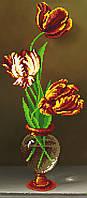 """Схема для вышивки бисером """"Тюльпаны"""", 17х39 см"""
