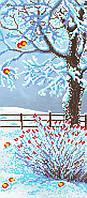"""Схема для вышивки бисером """"Зимний сад"""", 17х39 см"""