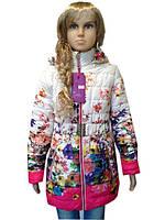 Удлиненная подростковая куртка на девочку