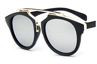 Женские солнцезащитные очки, копия Dior, зеркальные стекла