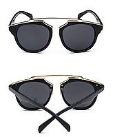 Женские солнцезащитные очки, копия Dior, черные стекла