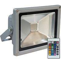 Прожектор Feron LL-181 1LED 20 W RGB (+ПУЛЬТ) 230V серебро  IP4
