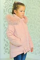 Зимняя куртка для девочек, синтепон + флис, размеры 32,34,36,38,40,42