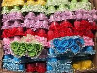 Мыльные цветы - розы двойная упаковка с ленточкой