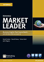 Учебник по деловому английскому Market Leader (3rd Edition) Elementary Course Book + DVD-ROM