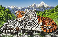 """Схема для вышивки бисером """"Тигры"""", А2"""