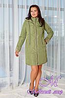 Женская весенняя куртка большого размера (р. 46-58) арт. В - 890 Диз. 2 Тон 5