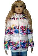 Куртка детская с цветочным принтом